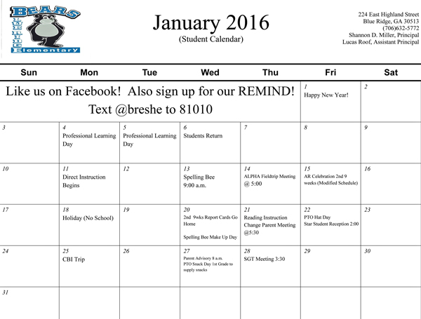 January-2016-(Student)