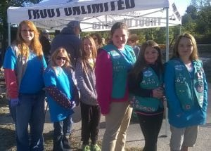 Fannin County Girl Scouts added points towards their badges by helping with the Toccoa cleanup.