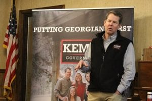 Fannin County, Georgia, Blue Ridge, Governor, Nathan Deal, Secretary of State, Brian Kemp, Bus Stop Tour, Spending Cap, Tax Reform, Gun Control, Economic Development, Governor's Race, Election 2018