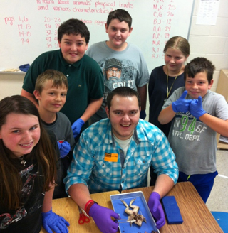 West Fannin 5th Graders Get Help With Science Project